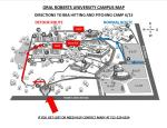 ORU CAMPUS MAP 6-15-15 CAMP REGISTRATION